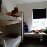 2 bunks and a single bed.  Perfect for 3 people!