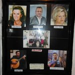 The fado performers on the board at Timpanas