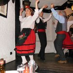 The folk dancers at Timpanas