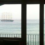 Vista della baia di Naxos dal 3° piano.