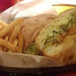 Mexican Torta (Chicken), with fries