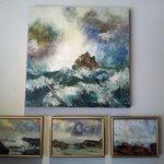 Original works on canvas by Lesie Ann Rowe