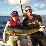 Don and my son with his first fish - a 20 lb mahi-mahi