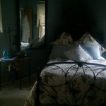 Facing the bed in the Blue Bird Room