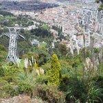 Vista de cima, via bonde, Santuário Monserrate