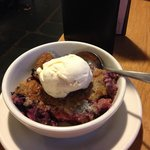 Yummy homemade berry cobbler