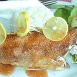 Whole fish with sweet chilli sauce