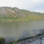 Looking across the Rhine River to the other side.