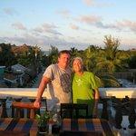 On the balcony at La Parrilla Juan