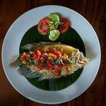 fried fish with balinese sambal