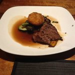 Flat Iron Steak - Very Good and even the Sweet Potato Croquette is very good