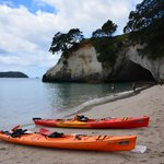 The beautiful Cathedral Cove