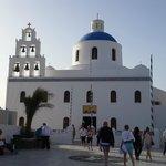 Church in Santorini walking distance