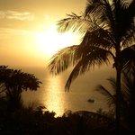 Sun setting from balcony