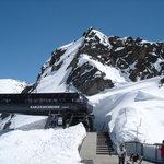 Karlesjoch 3108 m/üM, über dem Kaunergletscher mit Sicht bis in die Bündnerberge der Schweiz