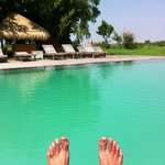Put your feet up by the pool