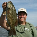 "Nice 21.3/4"" smallmouth on the bay"