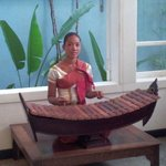 Traditional music playing in hotel lobby