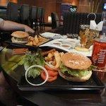 Burgers in the lobby bar
