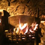 A roaring fire at the King's Head.