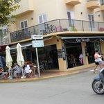 Que Tal Caffe on Santa Eulalia main street