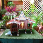Kampong miniature in the lobby