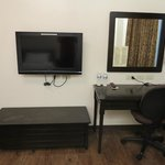 Cable TV with Side Table and Mirror