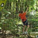 Tarzan swing/net