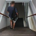 Stairway -- no elevator.