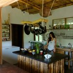 Our bamboo kitchen is a clean, modern facility.