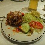 Onion bhaji  (one already eaten)