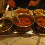 sag aloo (old boiled) chicken dishes