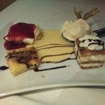 Degustación de postres y tartas