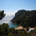 Tossa De Mar area view from coast road ride