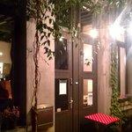 Puerta de entrada al restaurante