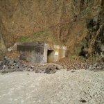 Pedestrian tunnel through cliff