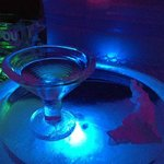 Martini glass made of ice