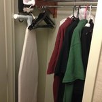 Closet with robe and iron
