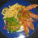 shrimps with garick