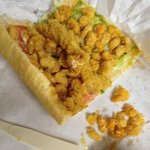 Notice the amount of seafood on THIS poboy!