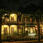 Front of Florida House Inn--evening view