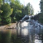 rafting down falls