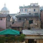 Intimate view of the interior of the residential area around the center of Rome