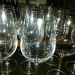 Wine Glasses - Served 300 glasses of Wine during Oct WINE DINNER