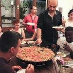 cena con la gente del hostel!