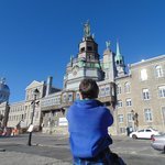Short walk from hotel to Old Montreal