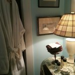 A view of the vanity area in our bathroom