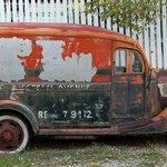 Vintage car on the property