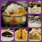 Desserts at The Flying Frog