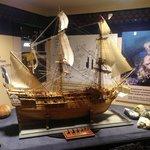 Scale model of Blackbeard's ship Queen Anne's Revenge (formerly the French ship La Concorde).